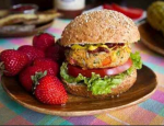 Kimberley Elise's Spicy Barbecue Chickpea Burger