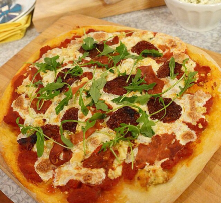 ... pizza with ricotta grape tomatoes red onion and fresh basil recipes