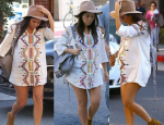 Kourtney Kardashian Shows Off Maternity Style in Mini Dress