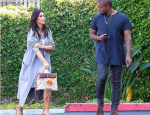 Kim Kardashian Sports Hermes Bag Designed By Baby North West