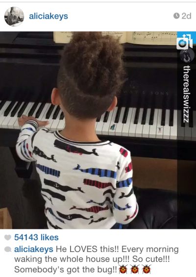 Alicia Keys' Son is a Piano Pro Like His Mom! Watch the Videos!