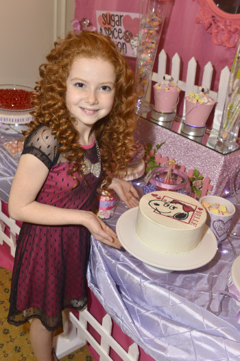 Actress Francesca Capaldi Hosts Peanuts Themed Valentine S