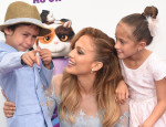 "Jennifer Lopez and Twins, Emme And Max, Make a Dashing Appearance at ""Home"" Premiere"