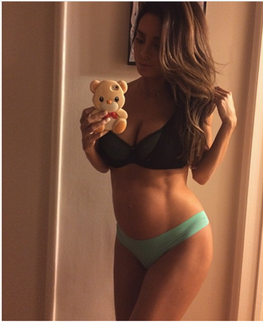 It's Hard to Believe But Lingerie Model, Sarah Stage, is 8 1/2 Months Pregnant!