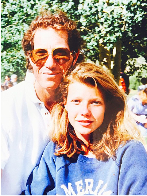 Throwback Thursday: A Young Gwyneth Paltrow Posing with Her Late Father