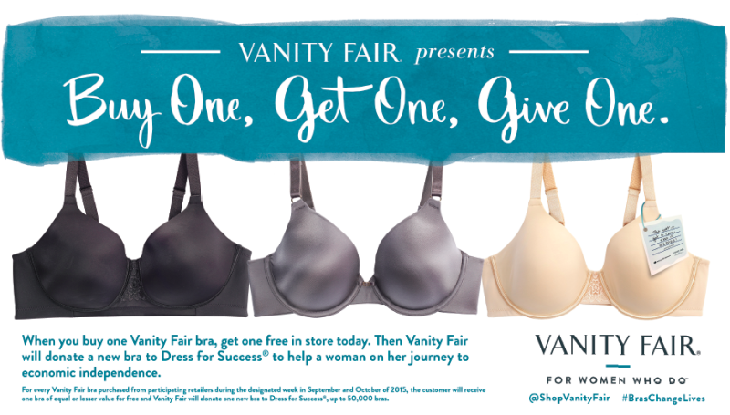Vanity Fair Lingerie is Donating Bras for an AMAZING Cause!