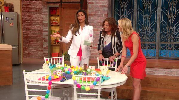 Camila Alves Decorates Easter Table