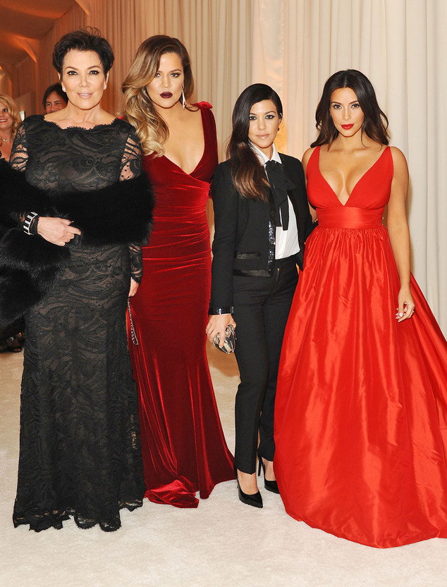 The Kardashian Klan Turn Heads at Elton John's Post Oscar Party