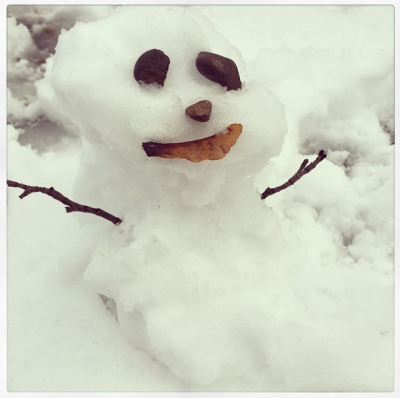 """Our first snowman of the year"" Photo Credit: Miranda Kerr/Instagram"