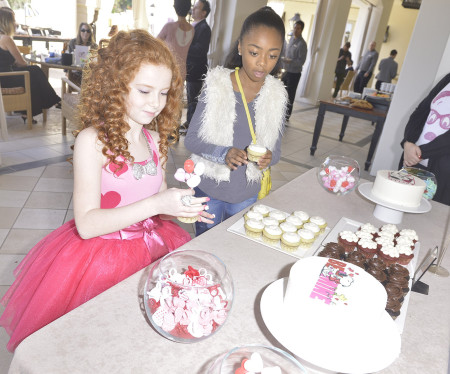 Actress Francesca Capaldi and friends celebrate Valentine's Day Themed Party with Peanuts CharactersSnoopy And Belle
