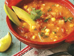 Carla Hall's Tomato Corn Chowder Soup Recipe