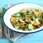 Kimberly Elise's Refreshing Cucumber Peach Summer Salad