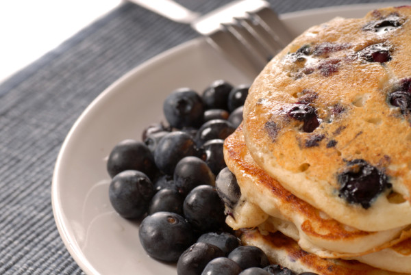 Stacy Keibler's Healthier Blueberry Pancake Recipe