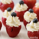 Martha Stewart's Filled Fourth of July Strawberries