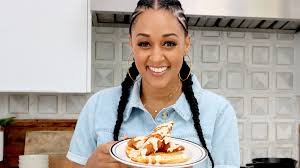 Tia Mowry's Chicken and Cheddar Waffles