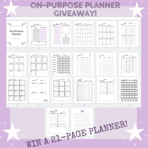 Win This Custom 21-Page On-Purpose Planner!